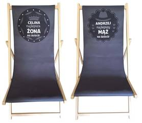 Sun loungers 2 pieces gift for wedding or anniversary for husband and wife