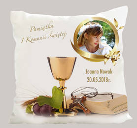 Souvenir for First Holy Communion pillow with photo