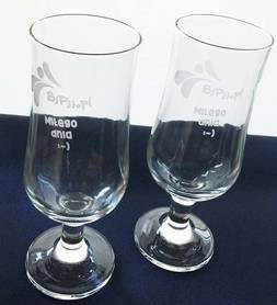 Pokal / glass / beer mugs, drinks with your logo 6 pieces