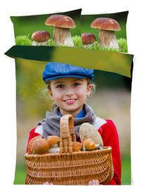 Bedding for mushroom pickers with YOUR PHOTOS