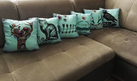 Decorative pillows and pillow case mint turquoise