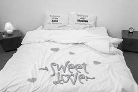 Bedding with a name for Valentine's Day